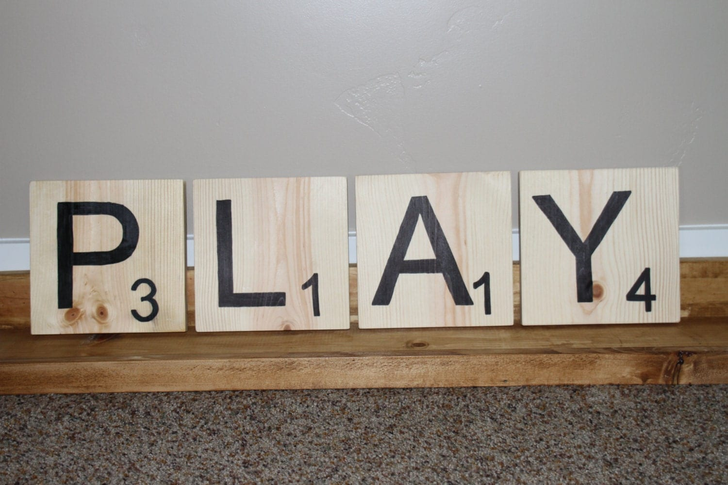 Play Scrabble Letters Decorative Letters Wood By Treehousedesignz