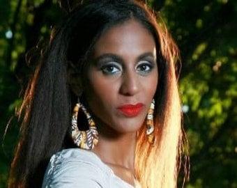 """African Fabric Earrings """"Orina"""""""