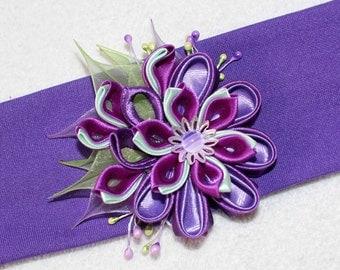 hearband, hair accessories, handmade Kanzashi Flowers brooch