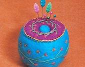 Bright Little Flowers Cute Pincushion Custom Made