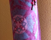 Mythala Yoga Mat Bag: Purple & Teal Dragonfly; Mandala...Myth...Mythala (May use as Tote, Yoga Bag, Yoga Practice, Pilates Bag, Yoga Gear)