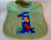 First Birthday Bib / Bib 1 / Boys Birthday Bib Ready to Ship / Sale Birthday Bib
