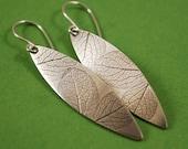 Hydrangea Petal Earrings, Handmade Sterling Botanical Jewelry