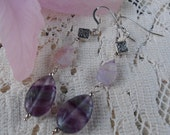 Lavender Leaves - Dangle Earrings