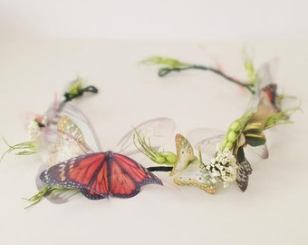 Butterfly Tiara, Fairy Hair Wreath