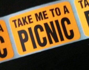 40 stickers - take me to a picnic!