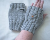 Reserved Order Gray Heather Acrylic/Wool Yarn One SizeTwo Pair
