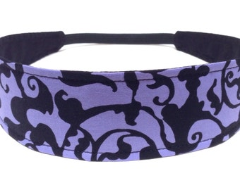 Reversible Fabric Headband   -  VIOLET SWAG  -  Headbands for Women