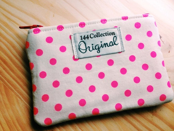 Small Coin Purse, Change Purse for Women, Neon Pink Change Wallet, Coin Purse Wallet, Coin Pouch