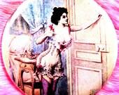 Pocket Mirror - Victorian - Pinup Girl - Burlesque