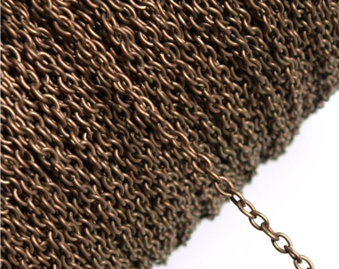 CHIAC-CA30 - Chain, Cable 3mm, Antique Copper - 1 Meter