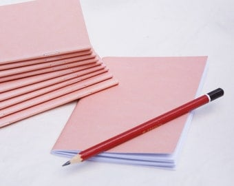 10 pack, Recycled, Made in Australia, A6 pink notebooks, blank