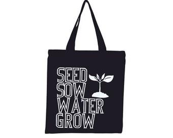 Gardening Tote Bag plant Spring print bags farmers market bags gardener gifts Indie Screen Printed Housewares