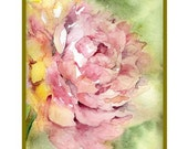 Watercolor Whisper of a Peony Note Cards Notecards, Peony Print, Peony Greeting Cards, Gift Box,Pink Peonies, Stocking Stuffer, Peony Lover