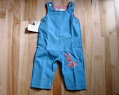 Fun Vintage Donkey Embroidered Jumper Overalls New with Tags Thomas Brand 1970s