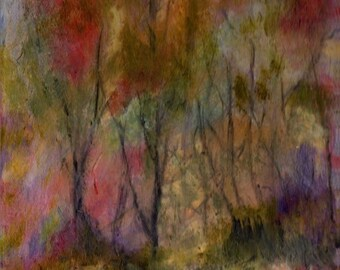 Enchanted Forest 8x10 Giclee Print  of Original Oil Painting by Kathleen Farmer Denver Artist