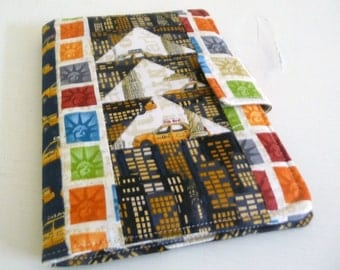 SALE Patchwork Kindle Touch, Kindle Paperwhite or Kindle 6 Cover, New York City Buildings and Taxis