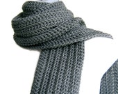 Classic Grey Scarf Gray Men Unisex GABLE Ready to Ship