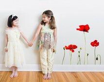 Giant Poppies Wall Decal Set