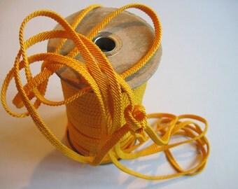 bright yellow braided trim 6 yards