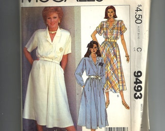 Vintage McCall's Misses' Dress Pattern 9493