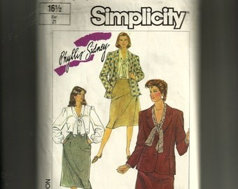 Simplicity Misses' Blouse, Skirt, and Lined Jacket Pattern 7054