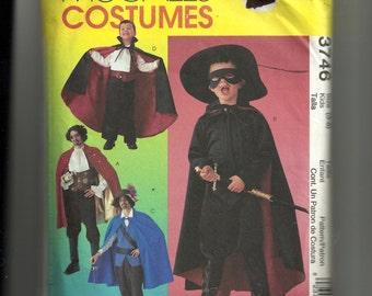 McCall's Children's  Costumes Pattern 3746