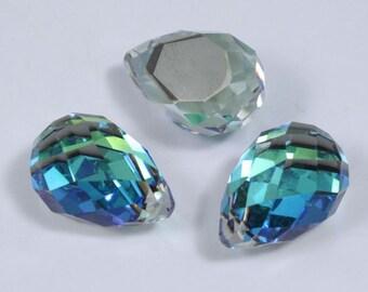 4872 12mm x 18mm Bermuda Blue Pear #908