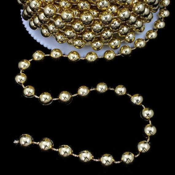 8mm gold bead garland 10 yds mga001