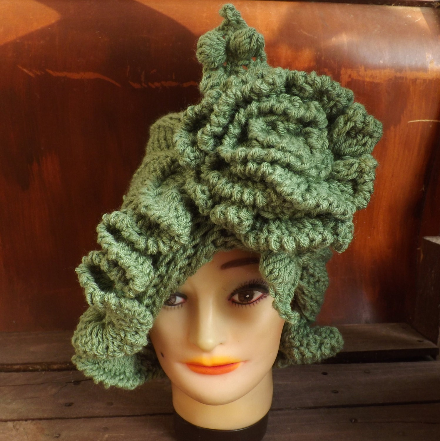 CYNTHIA Ruffle Womens Crochet Hat Pattern by strawberrycouture
