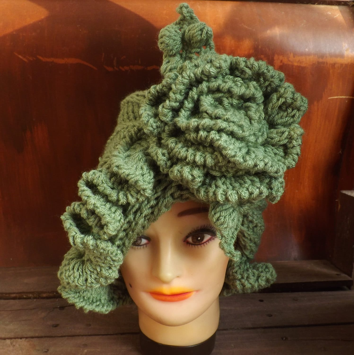 Crochet Patterns Etsy : CYNTHIA Ruffle Womens Crochet Hat Pattern by strawberrycouture