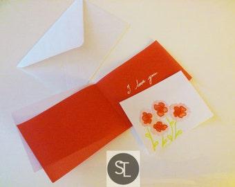 I Love You Poppies Mini Art Card