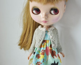 Cute cardigan for Dolls-Olive