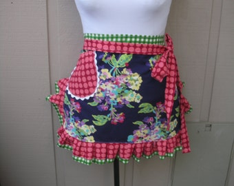 Womens Aprons - Amy Butler Aprons - Amy Butler Love Apron - Amy Butler Fabric Apron - Moon Dots Aprons - Monogrammed  - AnniesAttic Aprons