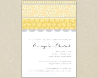 Bridal Shower Invitation: Vintage Lovelies Floral