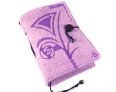 Handmade journal, painted notebook, Purple Witch
