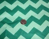 Chevron - David Textiles Fabric - One yard - Green on Green