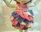 Pink Purple flapper dress & hat for Real Puki
