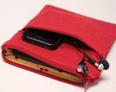 "Women's 12 inch MacBook Case Laptop Cover Chromebook Case MacBook Air Sleeve 11.6"" 13"" 15""  MacBook Pro Case - Red Canvas"