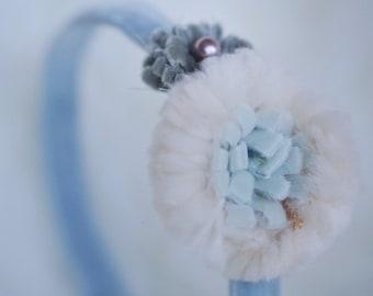 Soft and Fuzzy Flowers -Snow Ball Headband -