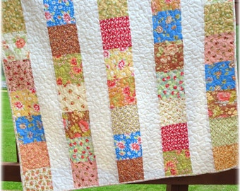 Baby Girl Quilt Fig Tree Patch Patchwork Scrappy Nursery bedding