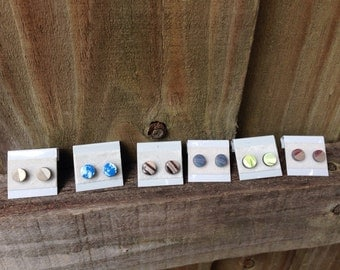 Fake gauge stud earrings