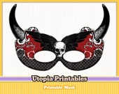 Printable Halloween Masquerade Mask