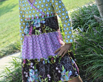 Girls Winter Dress Girls Long Sleeve Dress Girls Twirly Dress Girls Handmade Dress Purple Lavender - Ready to Ship