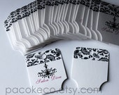 Set of 40 Folded Necklace or Bracelet Customized Cards orTags