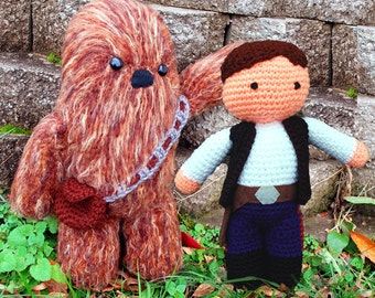 My Friend Han Solo and Chewbacca Wookie PDF Crochet Star Wars Toy Pattern INSTANT DOWNLOAD