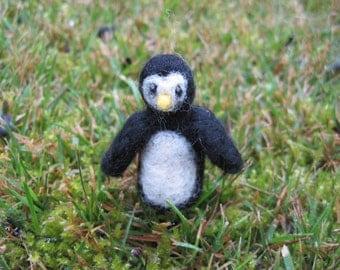 Needle Felted Miniature Penguin Tiny Figurine