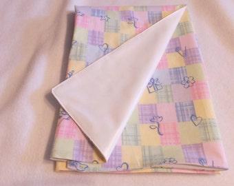 "27""X27"" Adult Diaper Changing Pad Pastel Squares"