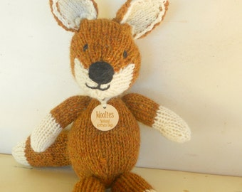 Fox Stuffed Animal, Woodland Fox,  All Natural, Eco-Friendly Natural Toy, Made to Order