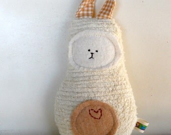 Eco Kids Toy Soft Bunny Rabbit Doll  Plush Natural Eco-Friendly Baby Shower Toy Waldorf